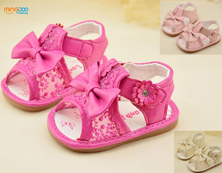 New cute infant baby girls sandals toddler walking shoes bow-know size 3-5 #Unbranded #Sandals