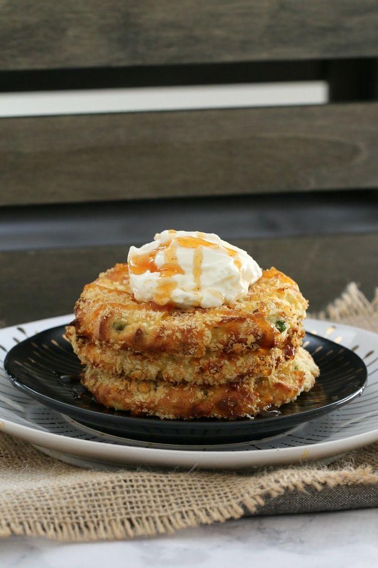 Oven Baked Cheesy Mashed Potato Cakes