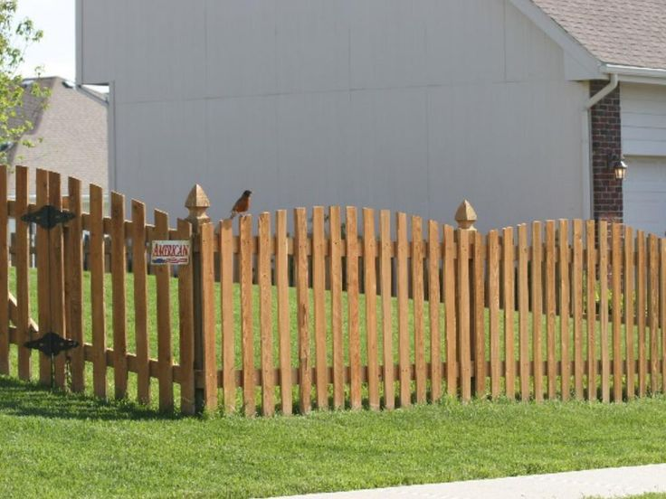 4 Picket Scalloped Wood America S Fence Store Wood Cedar Posts Fence Styles