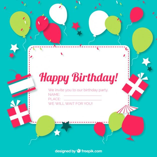 Birthday Ecards Invitations ~ Best images about party on pinterest graphics birthday decorations and