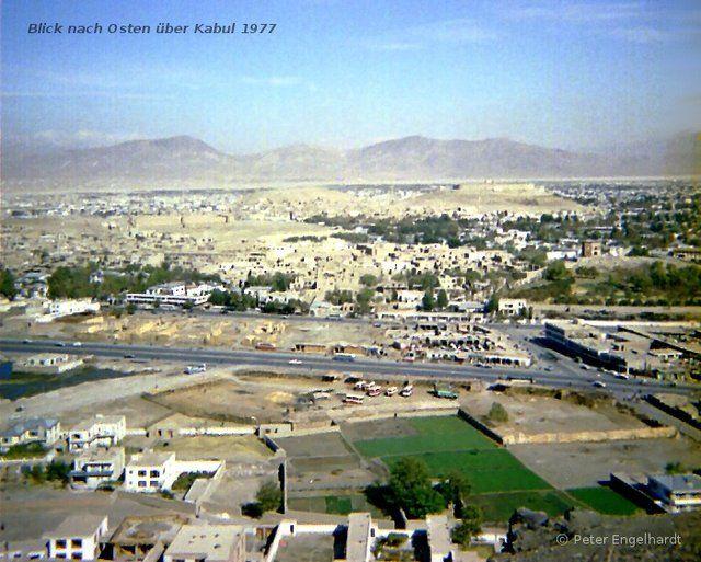 Blick über Kabul 1977