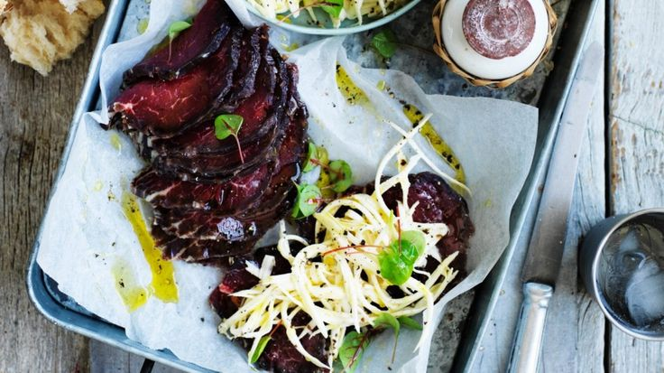 Fergus Henderson recipe: Cured beef and celeriac