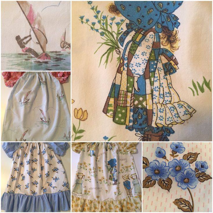 Vintage fabric child's peasant dresses .. Ookey originals
