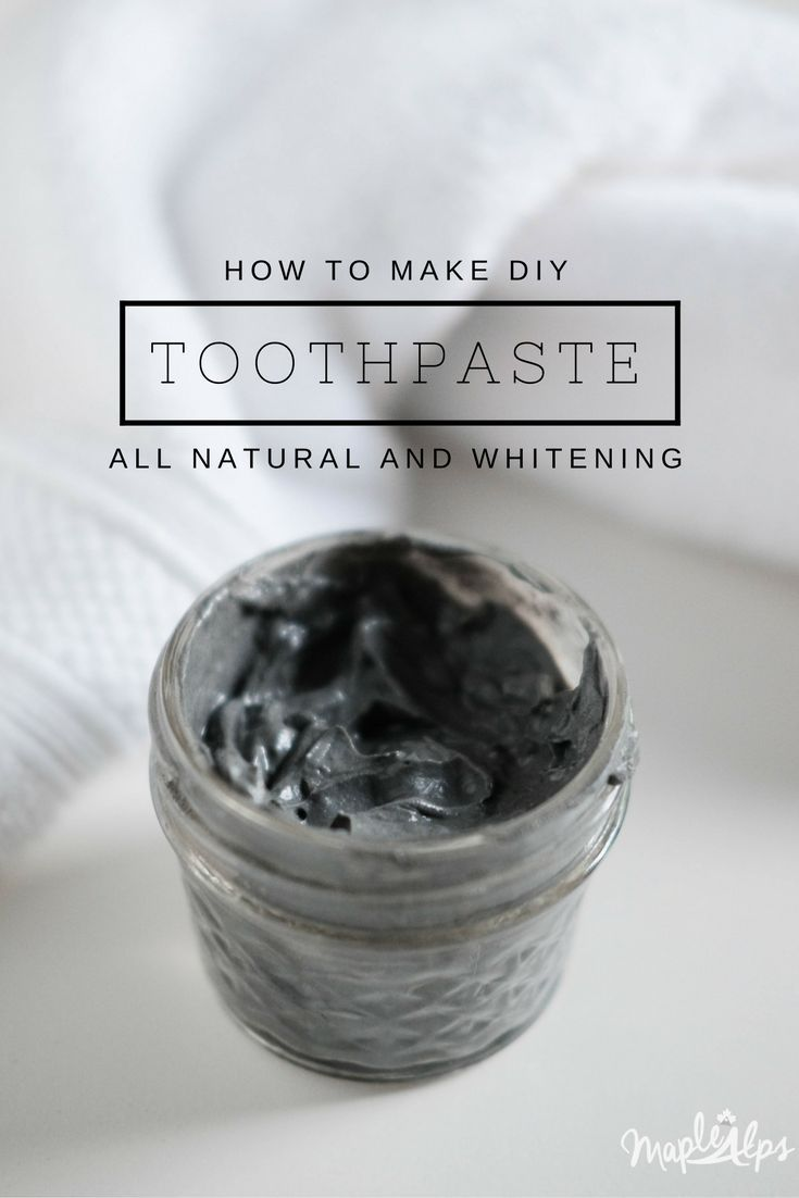 DIY Toothpaste 2.0 with charcoal and bentonite clay! | www.maplealps.com