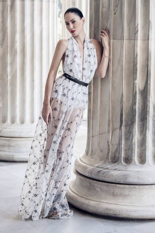 Couture Dress by Vassilis Thom Photographer: Konstantinos Pafilas   Blogger/Model: Konstantina Tzagaraki from Serial Klother