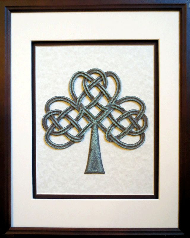 Bronze Celtic Artwork - Celtic artwork in bronze with patina, Bronze is traditional 8 year anniversary gift! Thanks Mama! <3