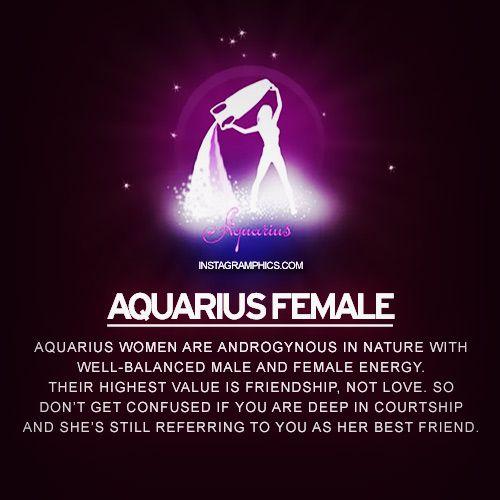 Aquarius Female Personality Graphic