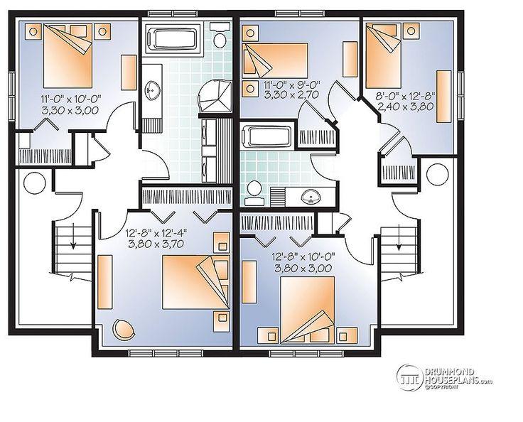 Multi family plan w3062 detail from for Multi family plans
