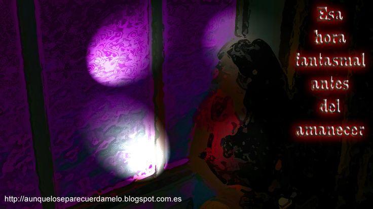 DESASOSIEGO (Esa hora fantasmal antes del amanecer) #blog #ilustracion #desasosiego #musa #reflexiones
