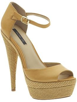 Large platforms make me feel not so bad for being short. Yay for high heels! (Bardot by Rachel Zoe in Yellow vachetta leather) on sale for $159.97