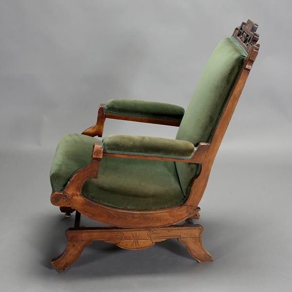 Victorian Platform Rocker | Victorian Platform Rocker with Green Velvet  Upholstery {Dimensions 39 . - 44 Best Eastlake Furniture And Deco Images On Pinterest Victorian