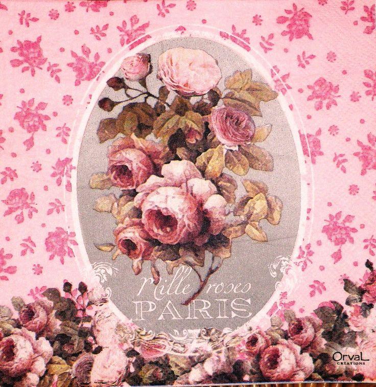 """♥ Бумажные полотенца Deco Цветы Roses- """"Милле РОЗЫ ПАРИЖ"""""""