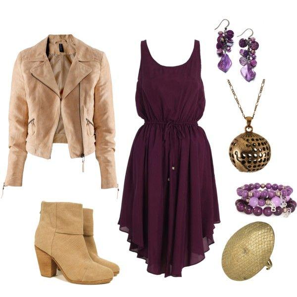Like the plum colored dress!