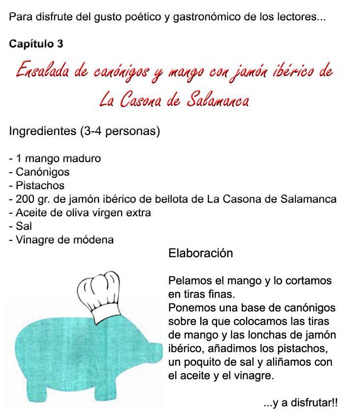Ensalada de canónigos, #jamón #ibérico y mango.