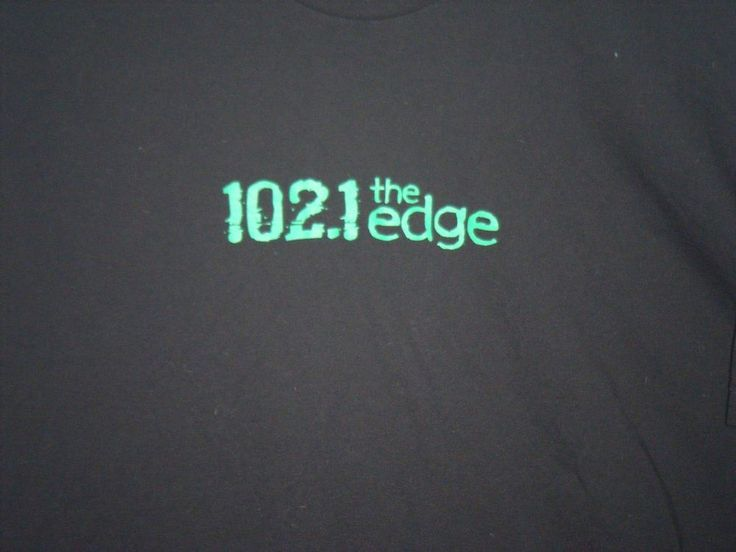 VTG 102.1 The Edge adult large black t-shirt alternative rock radio Toronto  #Unbranded #GraphicTee