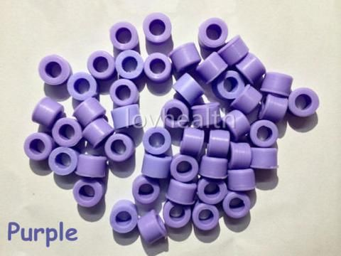 100 Pcs Purple Color Small Type Dental Silicone Instrument Color Code Rings