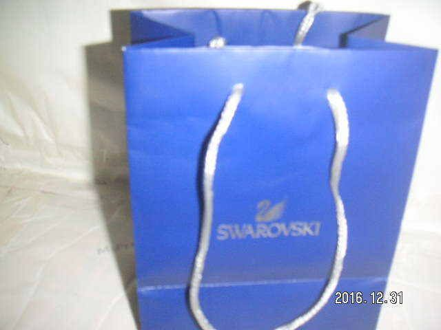 c36ea512a1c SWAROVSKI Designer Brand BLUE PAPER Shopping Gift EMPTY BAG 2 HAND Carry  STRAPS | ORGANIZERS: OTHER USES & Items with Multi-Uses - Reuse, Repurpose,  ...