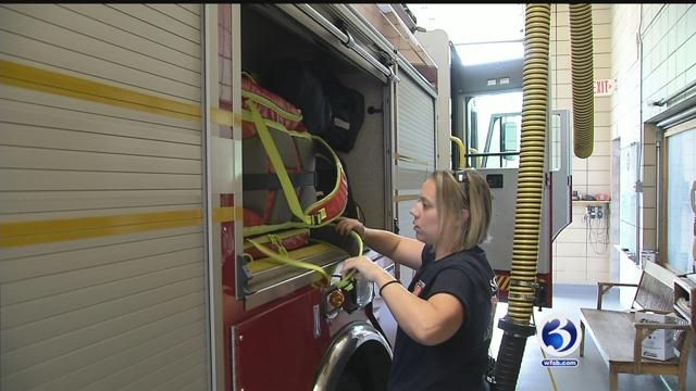 While the profession of firefighter is dominated by men, women are slowly climbing the ranks of fire departments in Connecticut. Eyewitness News followed two women's journey as they knock down ster...