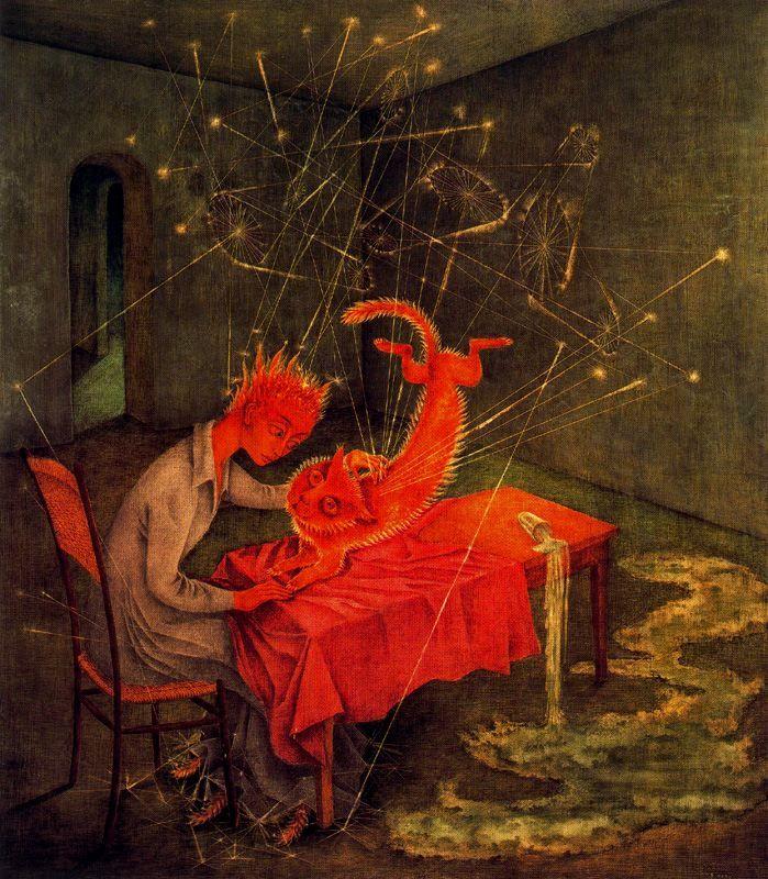 Sympathy   oil painting, 1955    Remedios Varo