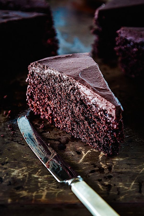 Roasted Cocoa Chocolate Cake recipe {gluten free}| deliciouseveryday.com