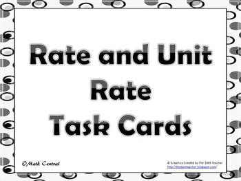 rate unit rate unit cost d rt task cards 6th grade math math task cards task cards. Black Bedroom Furniture Sets. Home Design Ideas