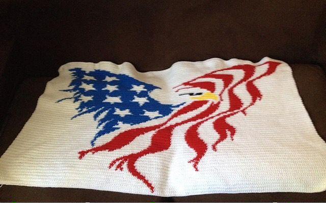 Flying American Eagle Blanket Pattern Free Pattern