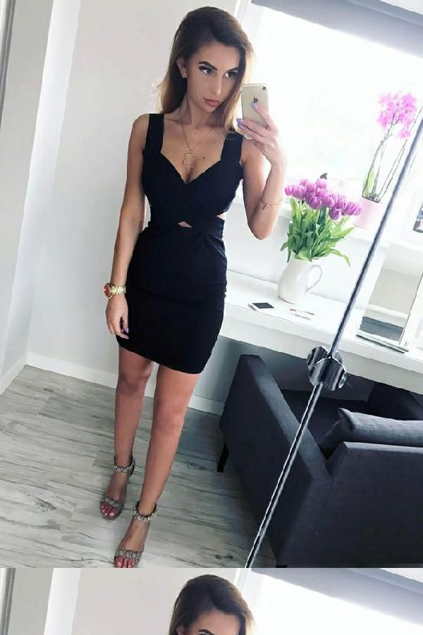 Custom Made Glorious Party Dresses Black, Sleeveless Party Dresses