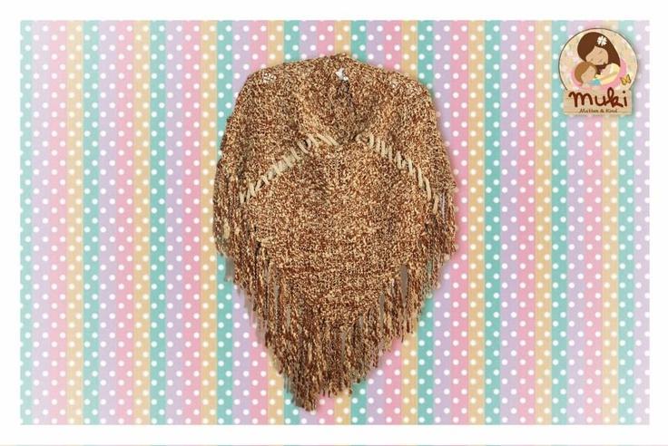 Poncho de lana de oveja, tejido en telar Talla: S -M $38.000