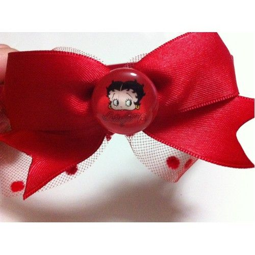 Paper Faces Kırmızı Betty Boop Yazılı, Kırmızı Kalın Taç, Kız 18,00 TL ile…