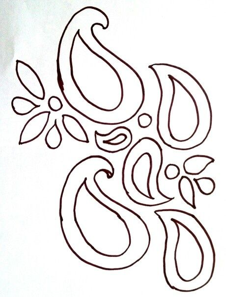 paisley stencil templates | Another paisley stencil | Stencils