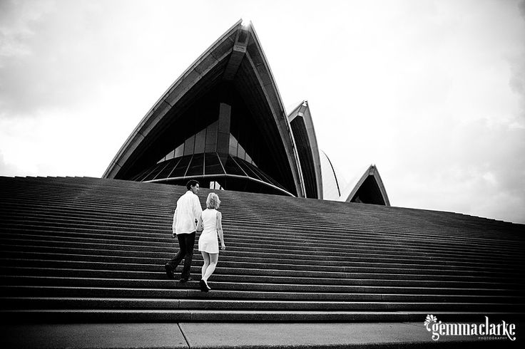 Adam and Barbara's teeny tiny wedding in front of the Sydney Opera House and Sydney Harbour Bridge