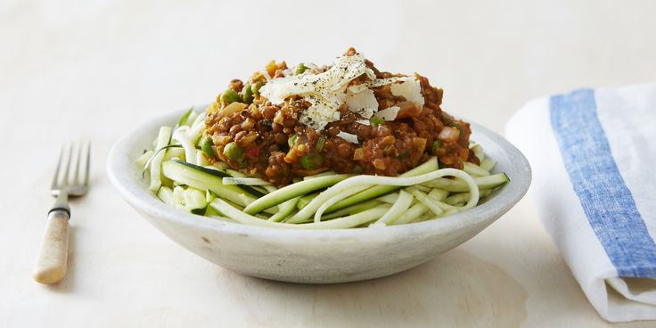 Oodles of flavour: Lentil + Cauliflower Bolognese with Zoodles on our 8-Week Program