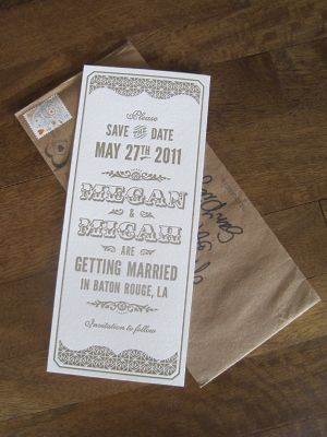 Oh So Beautiful Paper: Megan + Micah's Metallic Art Deco Letterpress Wedding Invitations