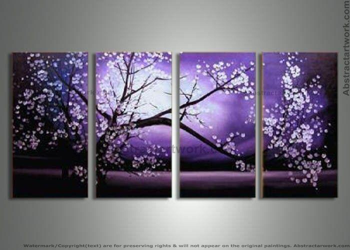 Purple Modern Art | piece-purple-modern-decorative-oil-painting-on-canvas-wall-art ...