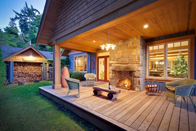 Creative Of Back Porch Ideas Porch Outdoor Fireplace Home Design Ideas Pictures Remodel And Decor Terrasa Ulichnyj Kamin Arhitektory