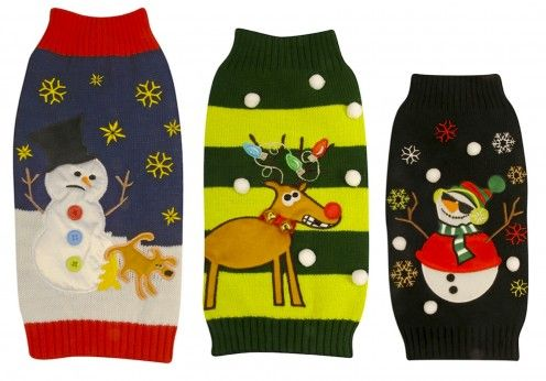 Ugly or Cute Christmas Sweaters for Dogs  http://chezchazz.hubpages.com/hub/christmas-sweaters-and-hoodies-for-dogs #christmas #pets #dogs