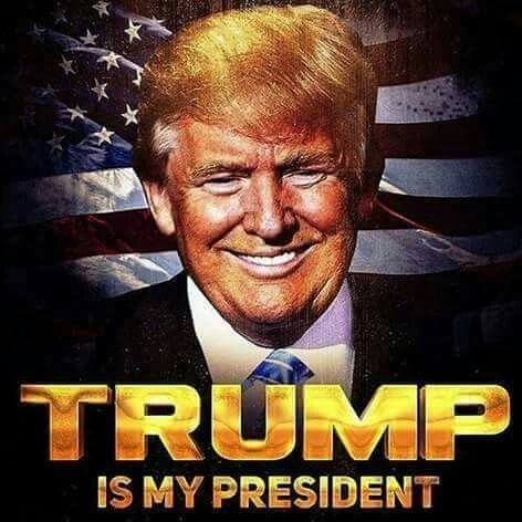"""AMEN"" FOR SOMEONE LIKE MR. TRUMP......HE DEFINITELY IS MY PRESIDENT.......MAINLY BECAUSE I VOTED FOR HIM AND THAT I WANT TO MAKE AMERICA GREAT AGAIN.....WE THE PEOPLE HAVE SPOKEN!!!!"