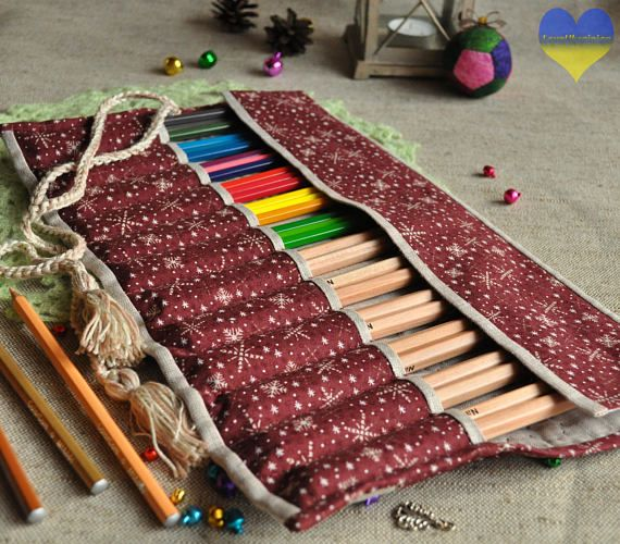 Pencil Roll up Case Waldorf Birthday Pencil Roll Case