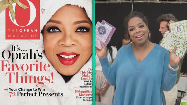 ET got the first look at the items on Oprah's favorite things list for 2014.