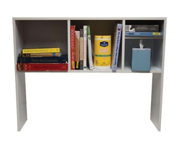 The College Cube - Dorm Desk Bookshelf - White Dorm Essentials Dorm Storage Solutions
