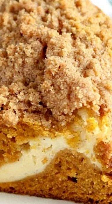 Pumpkin Cream Cheese Crumb Cake ❊