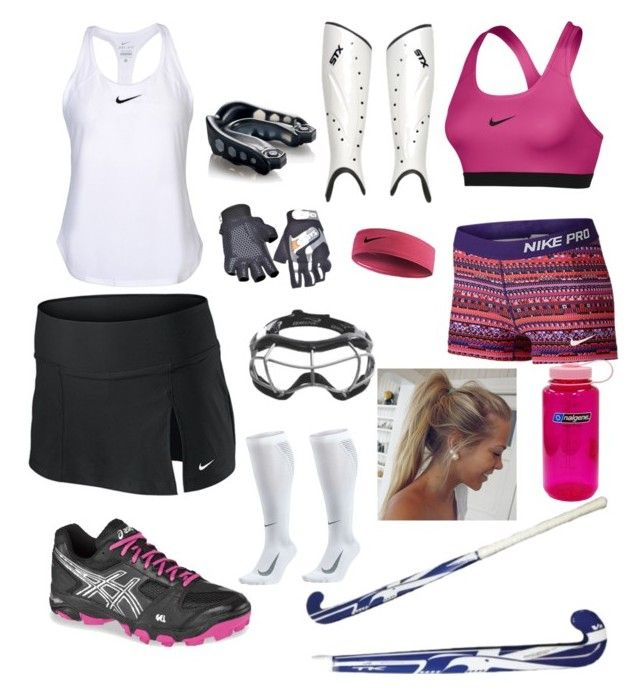 """Field Hockey Practice"" by dailyn-a on Polyvore featuring Shin Choi, Asics, NIKE, Shock Doctor and Nalgene"