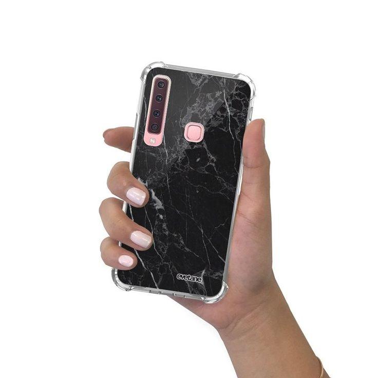 Coque Samsung Galaxy A9 2018 Anti-choc Souple Avec Angles Renforcés Transparente Marbre Noir Tendanc – Taille : Taille Unique