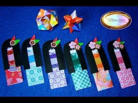Origami Maniacs 117: Cute Japanese Girl Bookmark - YouTube