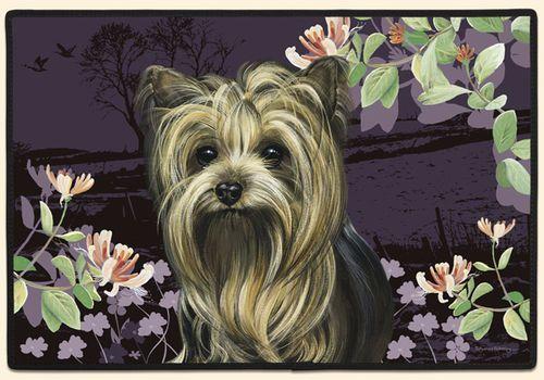 Yorkie Springtime Doormat