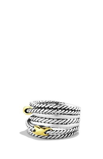 David Yurman 'Double X Crossover' Ring available at #Nordstrom