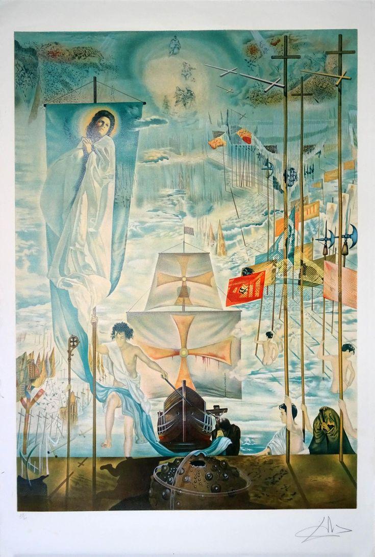 """Salvador Dalí: """"El descubrimiento de América"""" 230/300 - Subasta Real"""