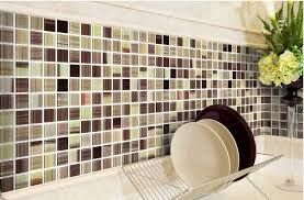 stickers for tiles in kitchen: glass backsplash wall tiles kitchen bathroom wall stickers mosaics traditional-mosaic-tile