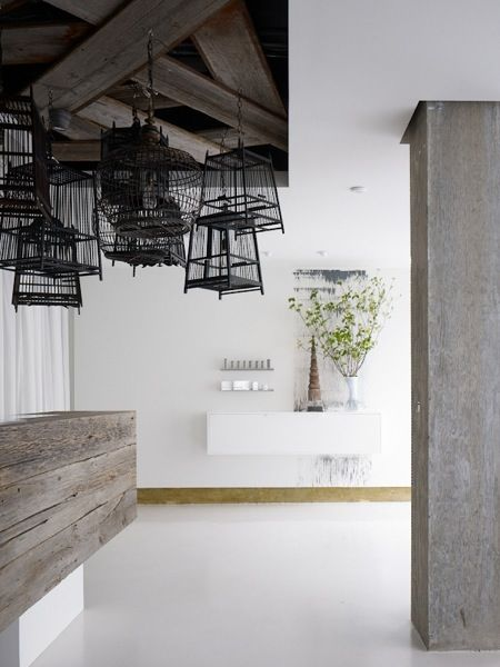 Revel Spa in San Francisco - Entry with antique Thai birdcages
