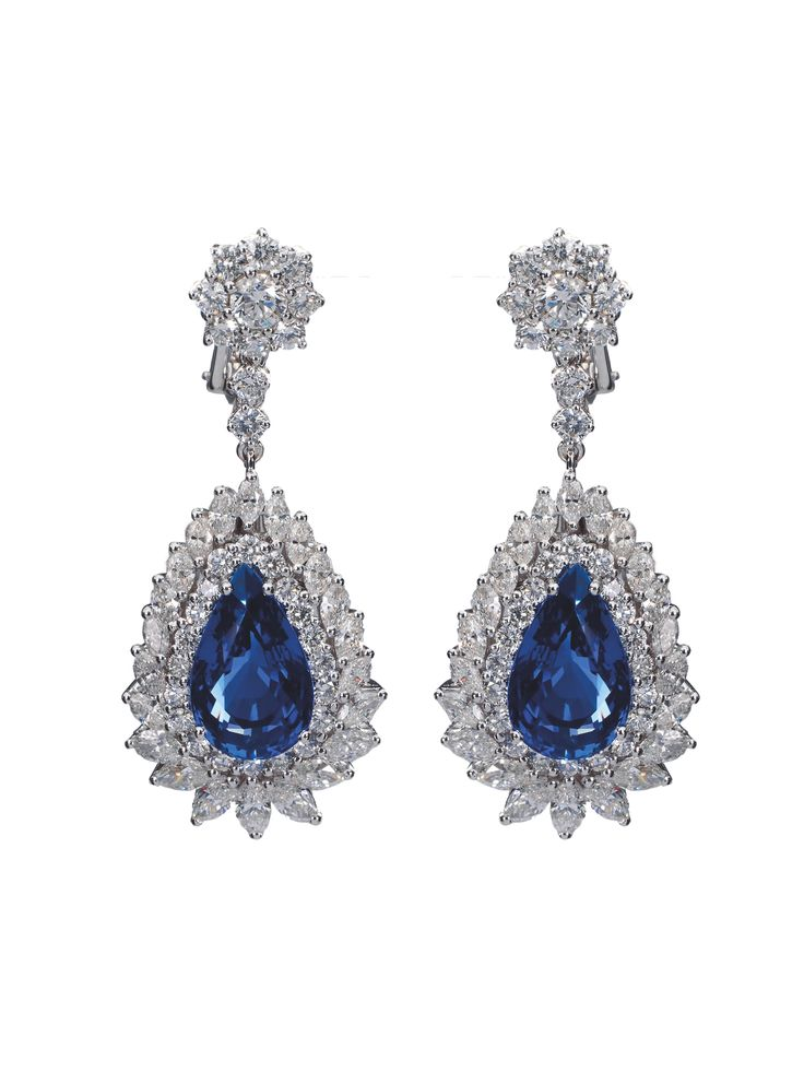 Perfect Couple of Ceylon Sapphire Earring